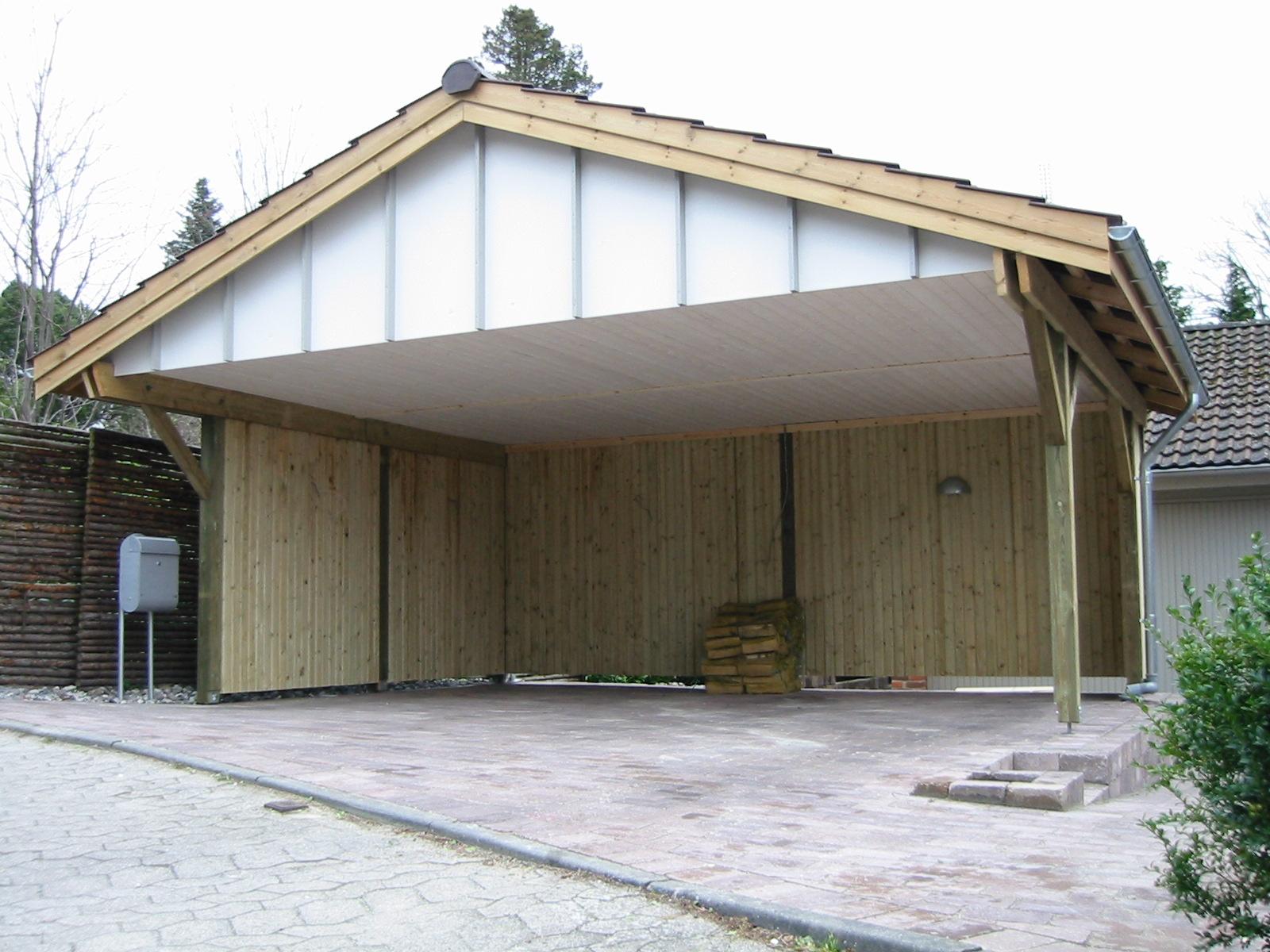Satteldachcarport 6x6,5m