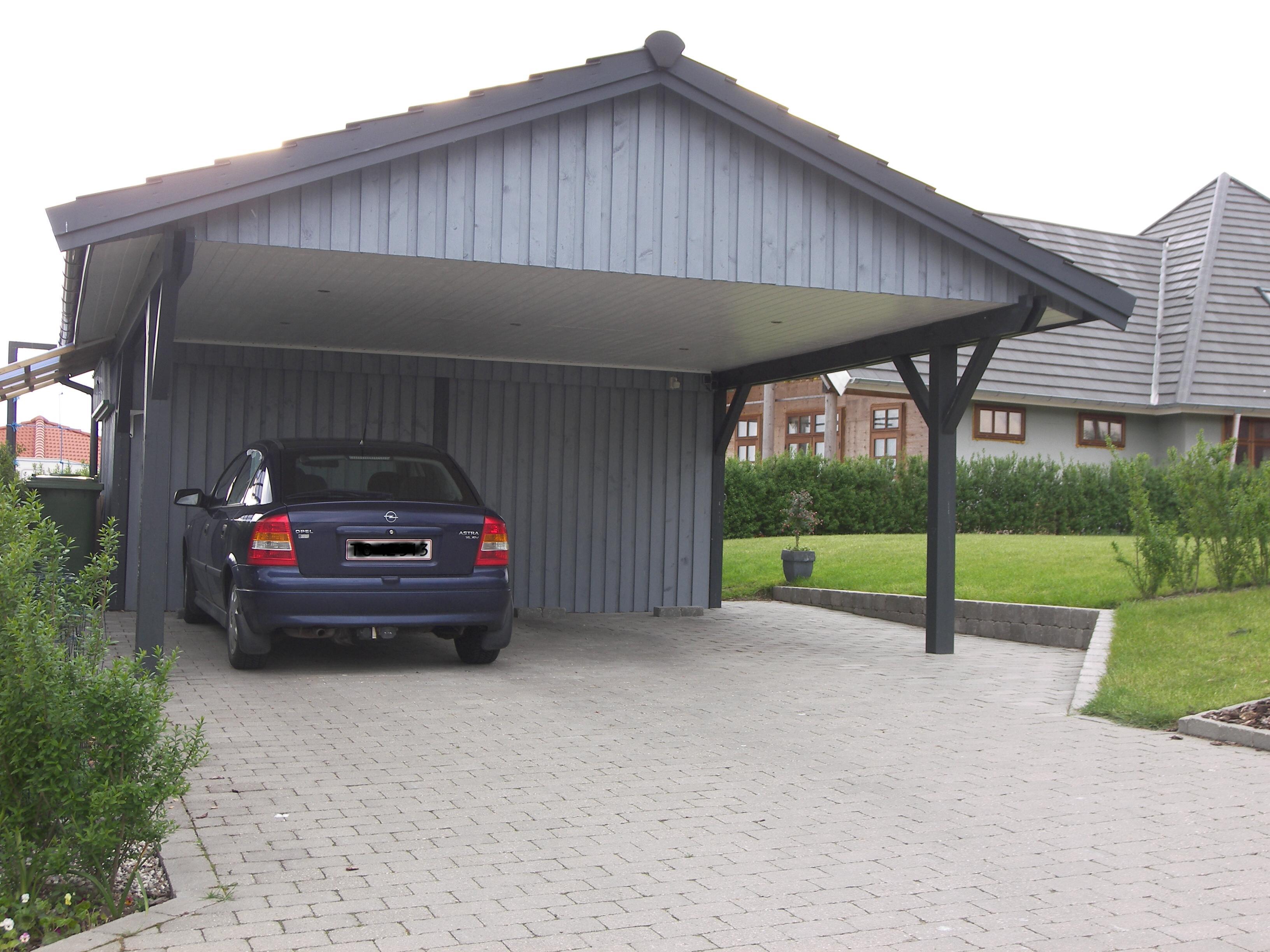 Satteldachcarport