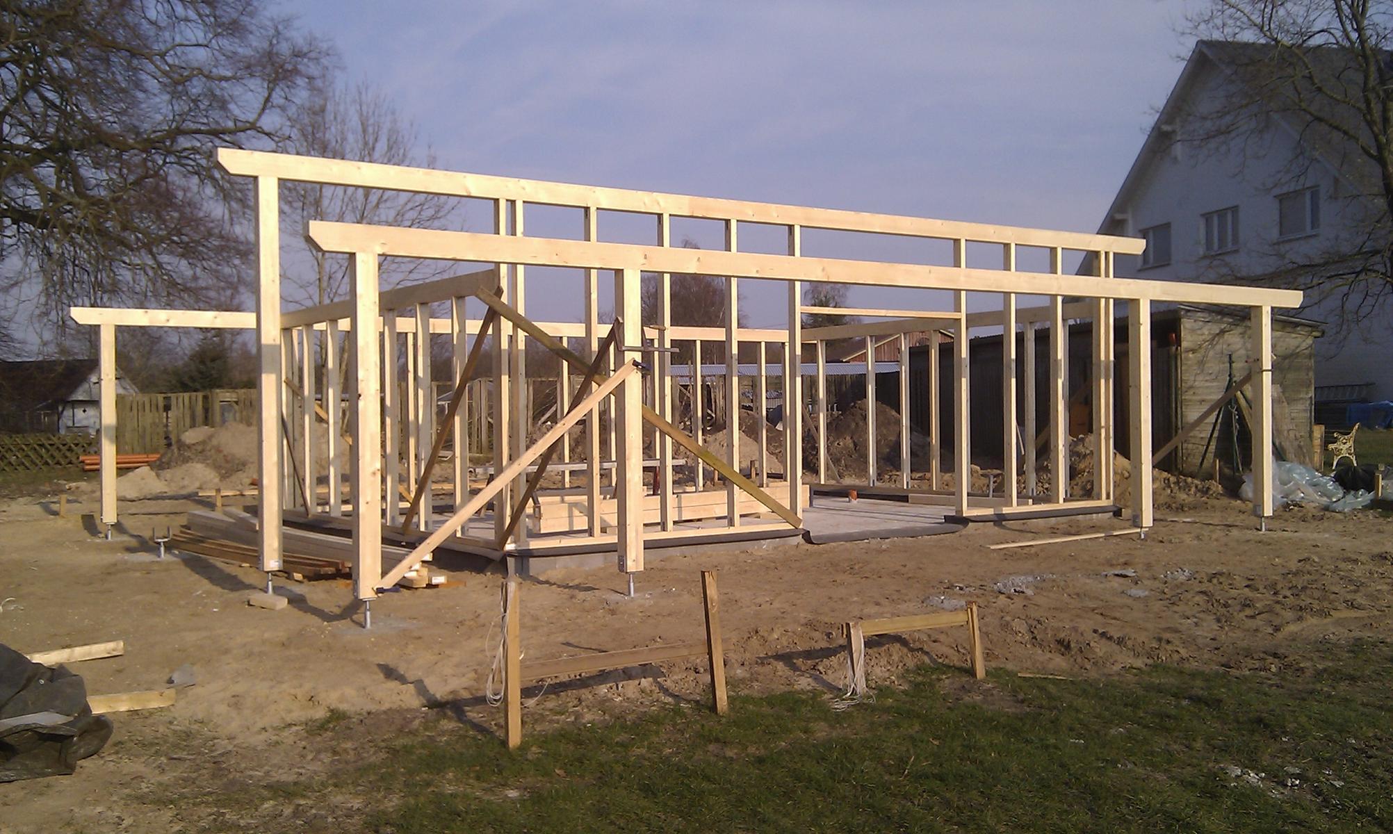 Holzständerwerk Infohaus