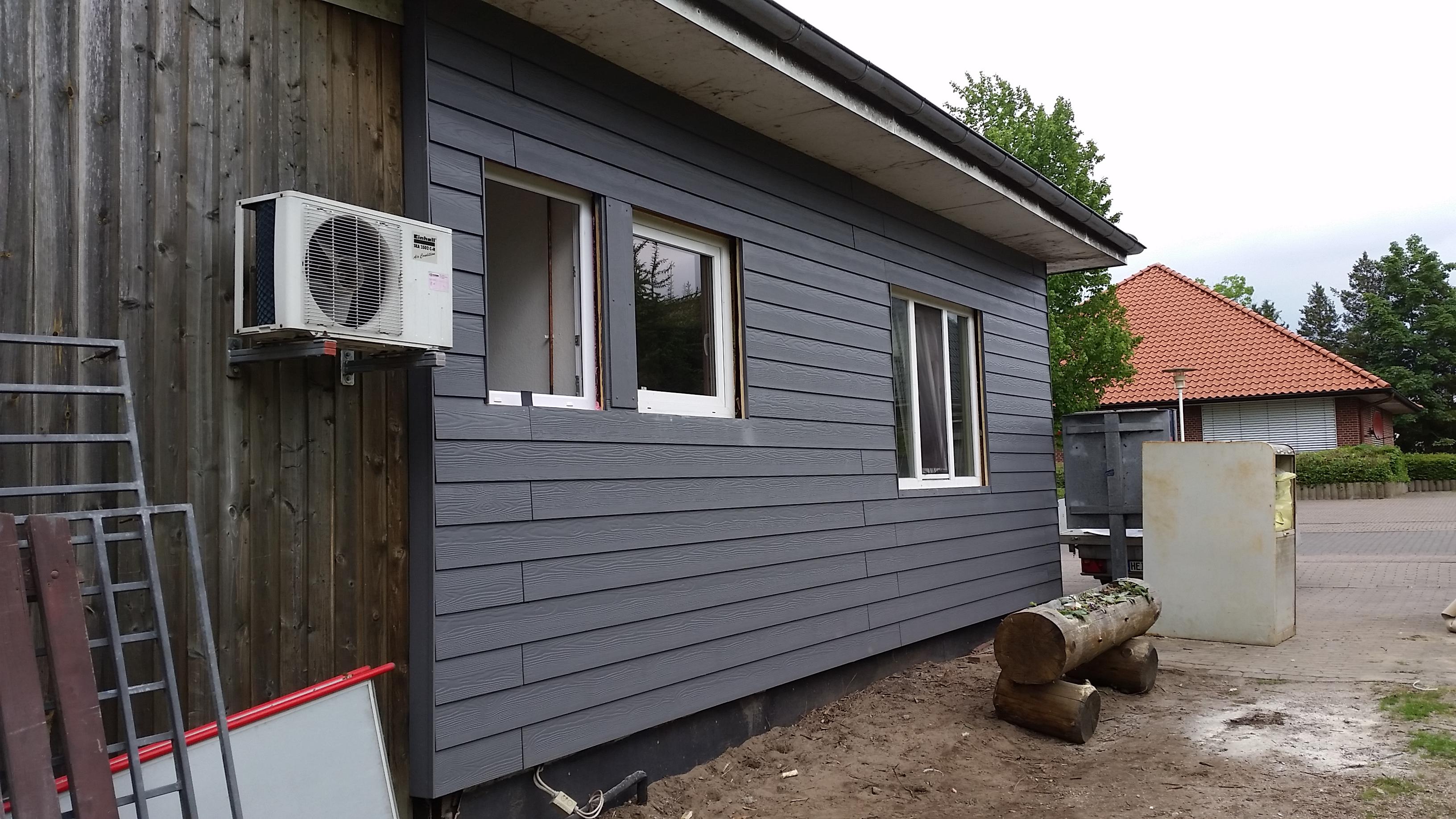 Anbau Fassade Cedral Struktur