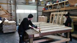 Herstellung der Sauna
