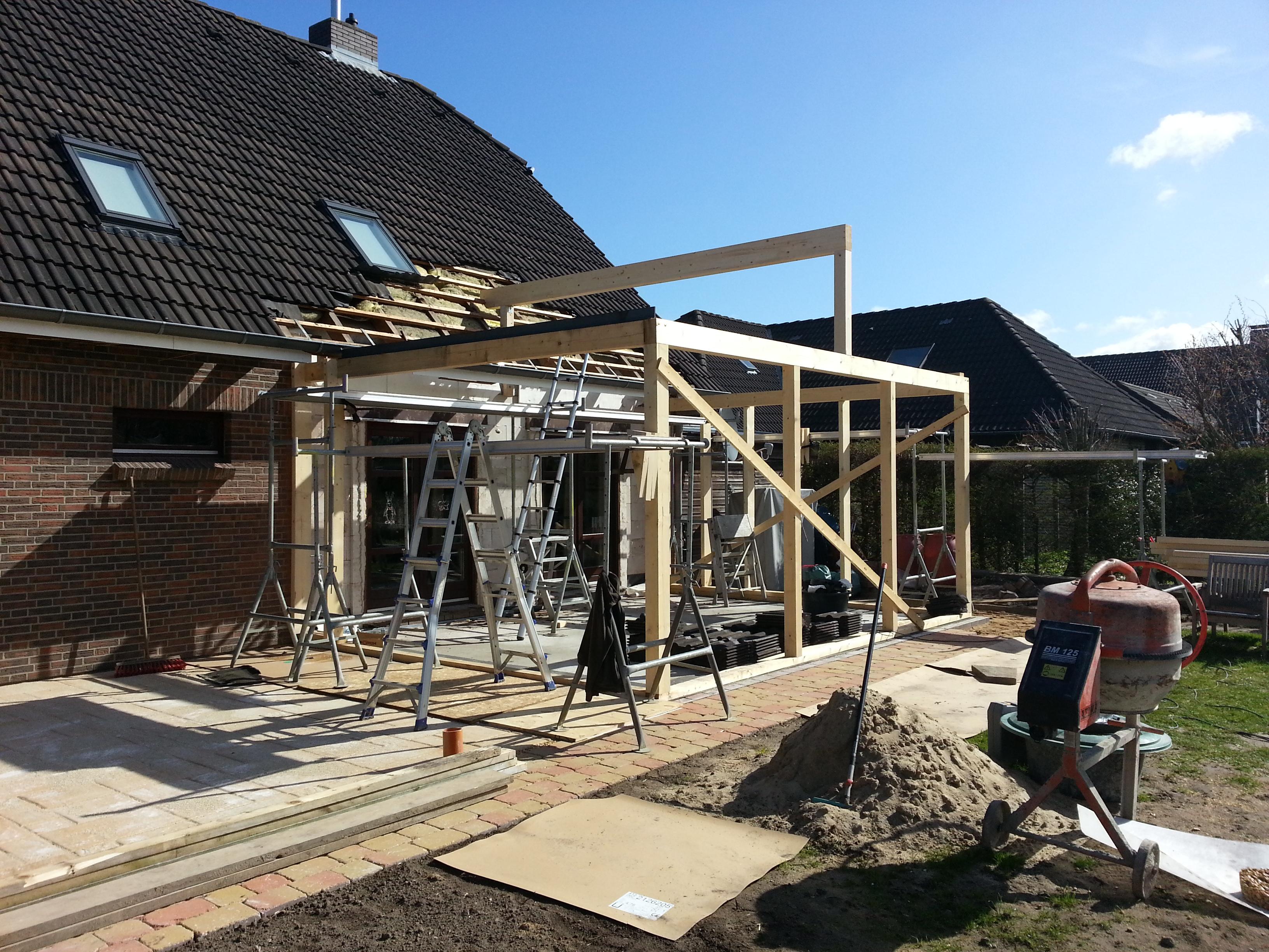 Holzständerwerk Wohnraumwintergarten
