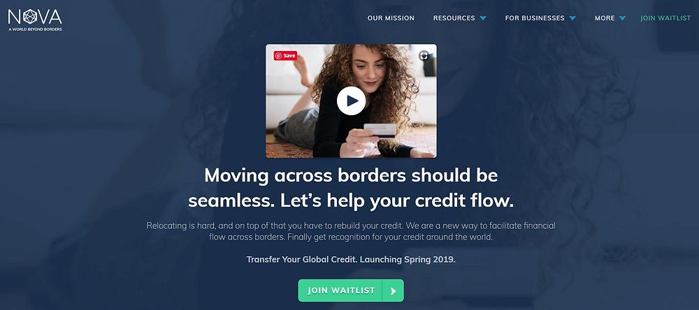 Nova Credit website