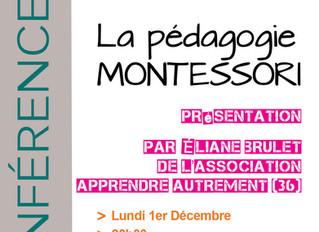Conférence Pédagogie Montessori