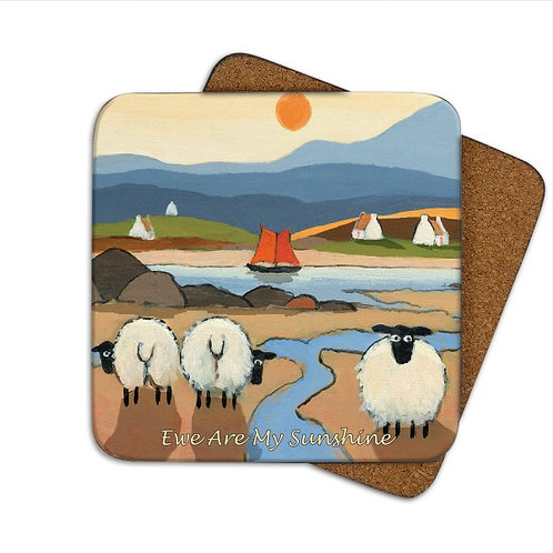 'EWE ARE MY SUNSHINE' Single Coaster by Thomas Joseph