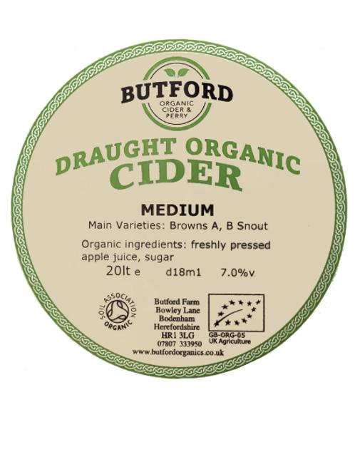 Butford Organic 'Medium' -  Draught Cider/Litre