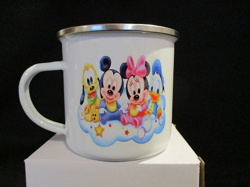 #1036 mickey mouse babys tin mug