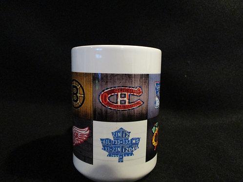 #630 Original Hockey teams mug