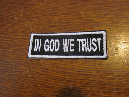 IN GOD WE TRUST PATCH