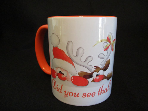 #42 Did you see that santa mug
