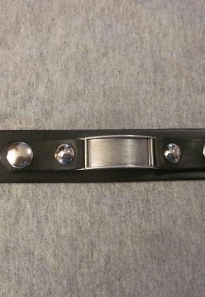#10 Genuine leather wrist band,