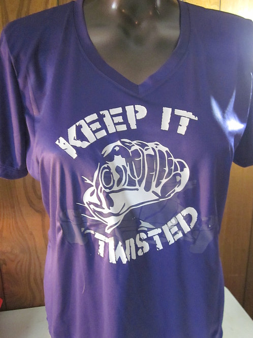 #67 ladies keep it twisted t shirt
