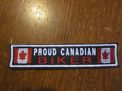 PROUD CANADIAN BIKER/FLAG PATCH