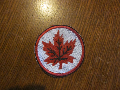 CANADIAN MAPLE LEAF CIRCLE PATCH