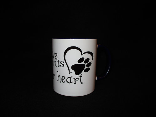 #612dogs leave paw prints on your heart mug