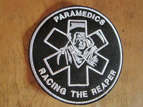"""Paramedics racing reaper patch  4"""" circle"""