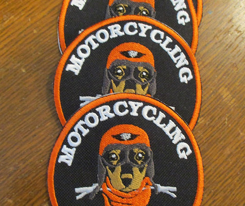 #900 Motorcycling with Fido patch