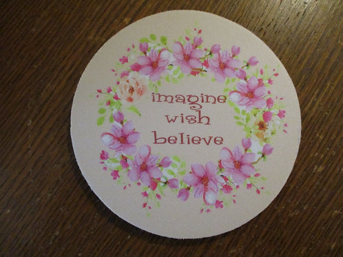 #102 imagine wish believe single coaster