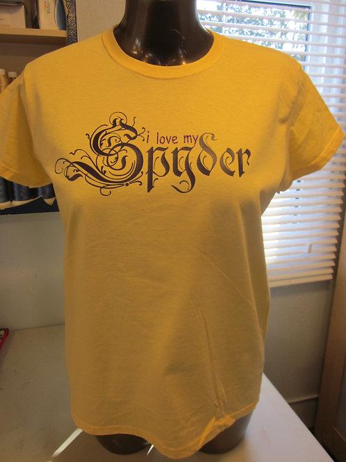 #84 i love my spyder tee shirt