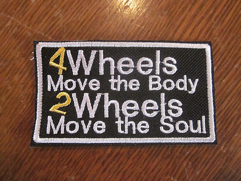4 WHEELS MOVE THE BODY PATCH