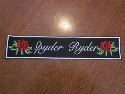 Ladies Spyder Ryder/Rose patch  8 x 2""