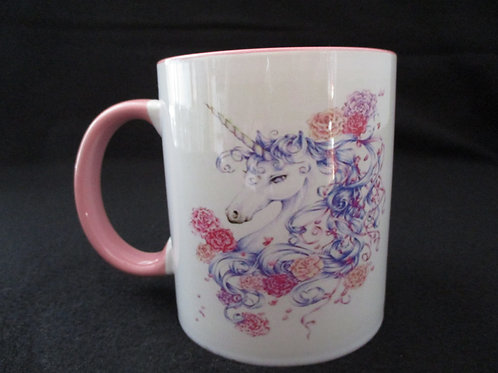 #26 I was raised by Unicorns mug