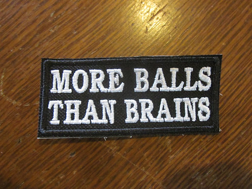 MORE BALLS THEN BRAINS PATCH