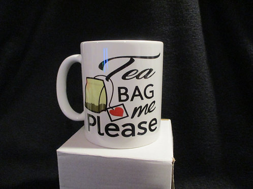 #912 Tea bag me please mug
