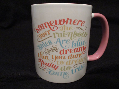 #29 somewhere over the rainbow mug