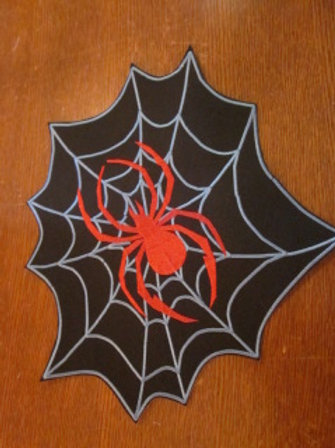 """Spider on web patch   4 X 4"""""""
