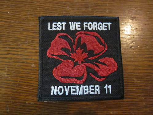 LEST WE FORGET POPPY PATCH