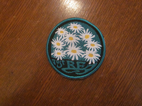 """Just be ....daisy patch 3"""" circle"""