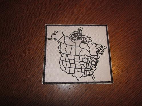 Canada/U.S. travel map patch