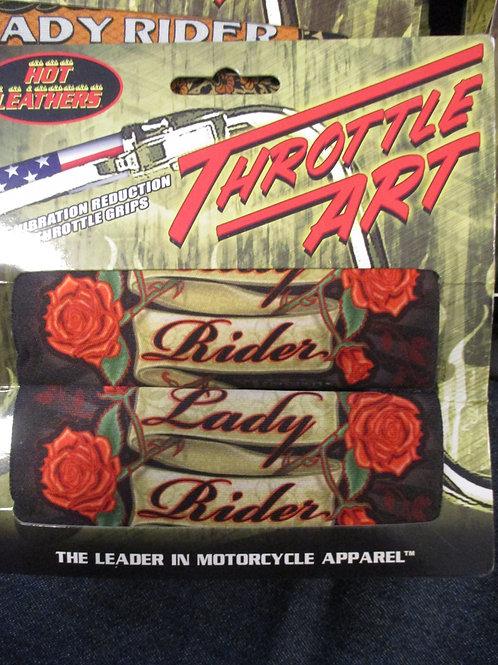 Throttle grip Lady rider roses