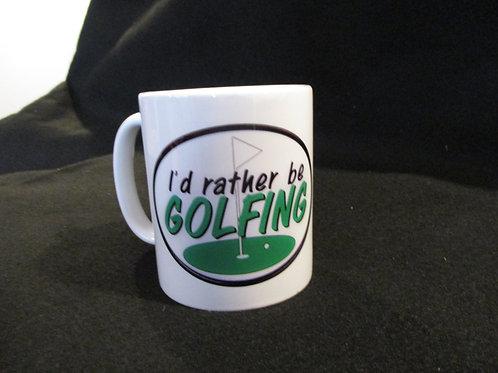 #244 I'd rather be Golfing mug