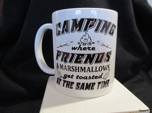 #800 Camping where friends and Marshmallows...mug