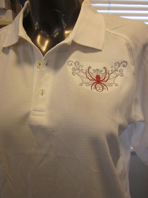 #109 scroll web/spider shirt