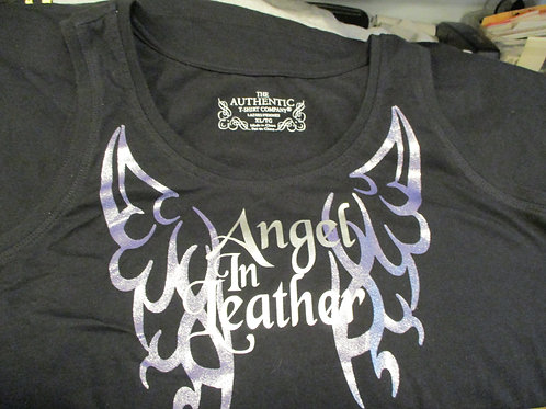 #25 ANGEL IN LEATHER TANK TOP SALE SHIRT