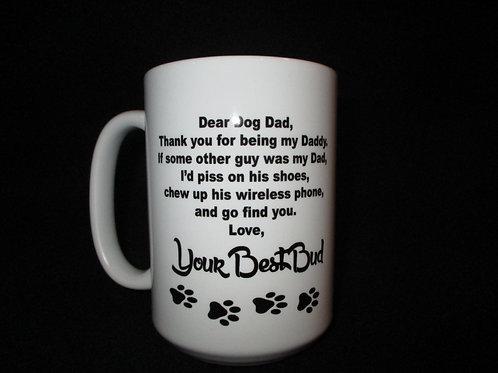 #613 Dear Dog Dad  mug