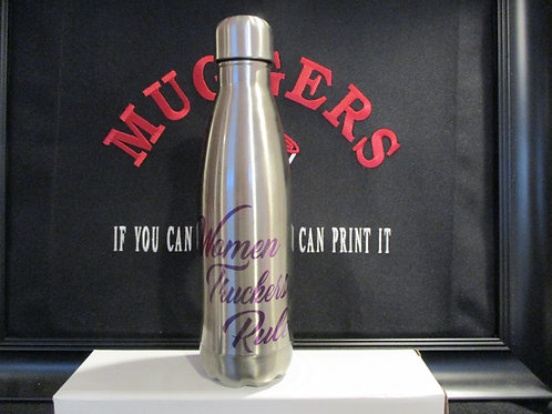 #930 Women Truckers Rock steel bottle
