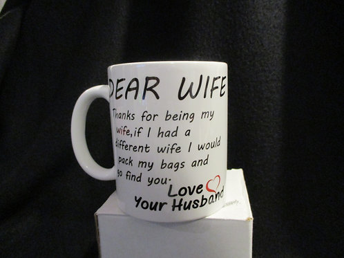 #906 dear wife... come find you mug