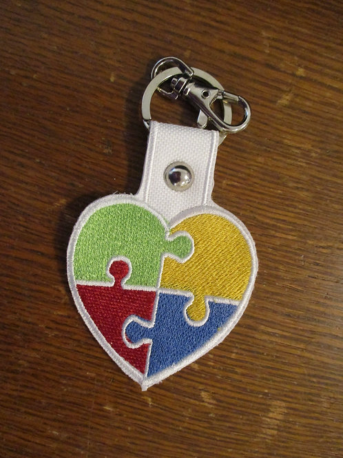 #10 autism heart  fob/charm