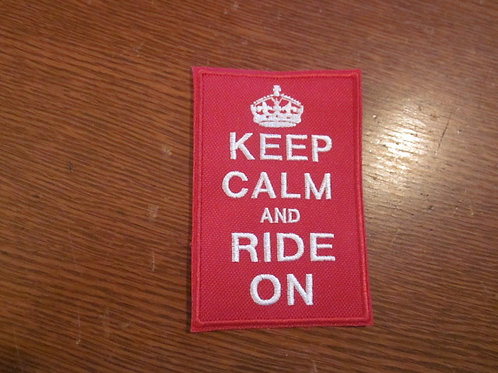 KEEP CALM AND RIDE ON PATCH