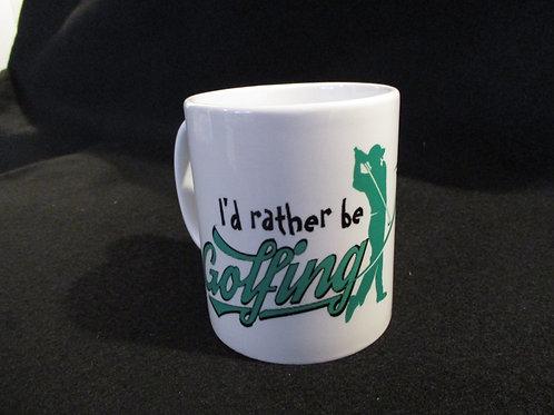 #246 I'd rather be golfing..golfer mug