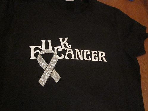 #30 F*uck Cancer glitter ribbon tee