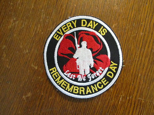 Every day is Remembrance Day patch