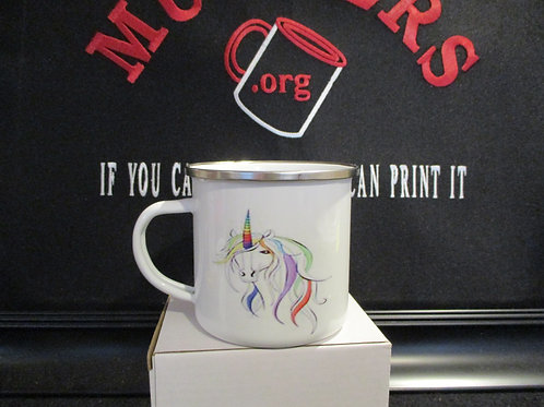 #934 Unicorn tin mug
