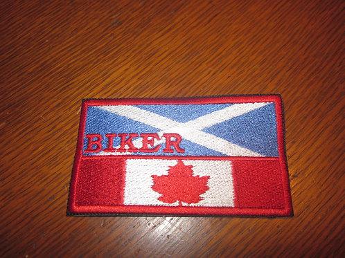 Scottish Canadian Biker flag patch
