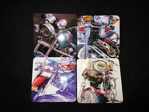#150 Motorcycle theme coasters