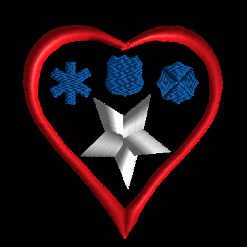 Heart First Responders patch U.S.